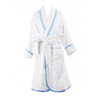 Blue Flower Bathrobe