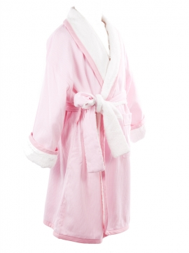 Pink Stripe Bathrobe