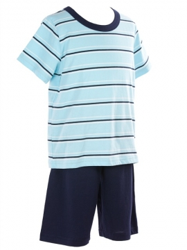 Short Jersey Lounge Stripy Blue
