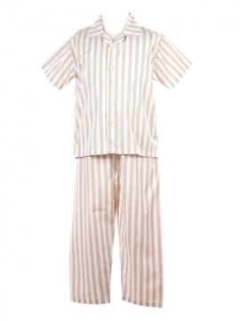 Beige White Stripe