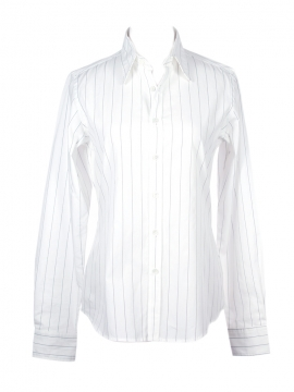 Fitted Shirt White Stripe